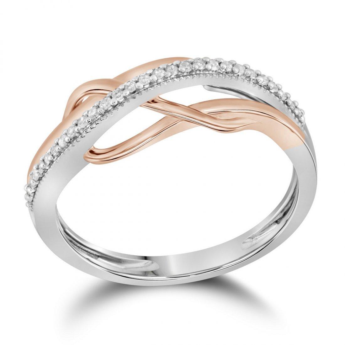 0.1 CTW Diamond Ladies Ring 10KT Two-tone Gold -