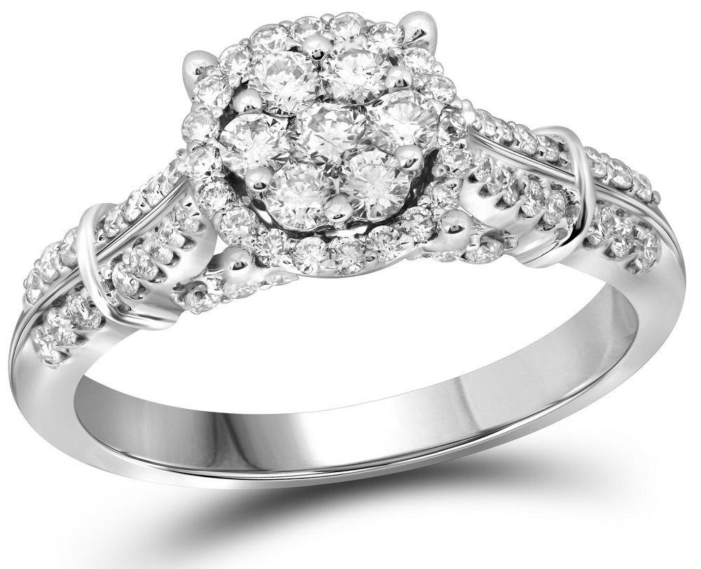 0.75 CTW Diamond Ladies Ring 10KT White Gold -