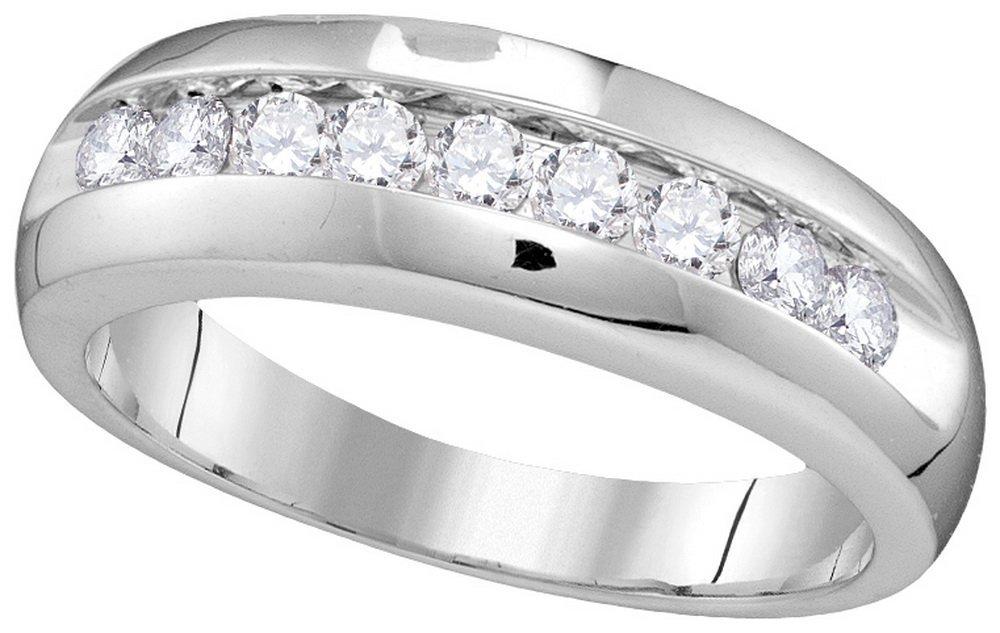 0.5 CTW Diamond Men's Ring 10KT White Gold -
