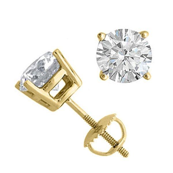 10K Yellow Gold Jewelry 2.0 ctw Natural Diamond Stud