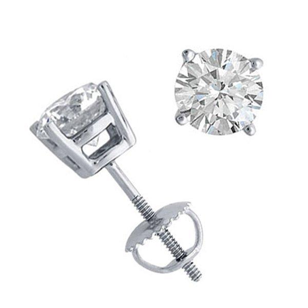 10K White Gold Jewelry 1.50 ctw Natural Diamond Stud
