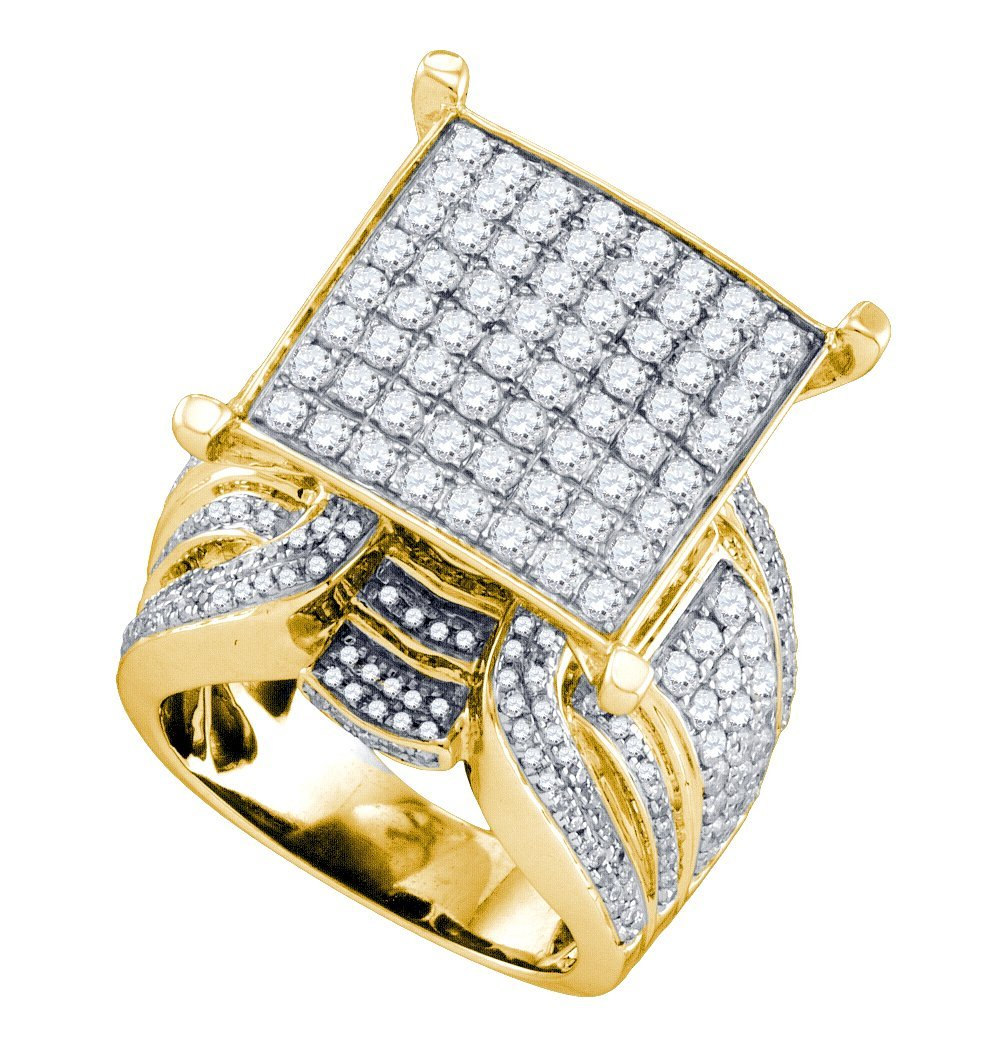 Genuine 3.0 CTW Diamond Ladies Ring 10KT Yellow Gold -