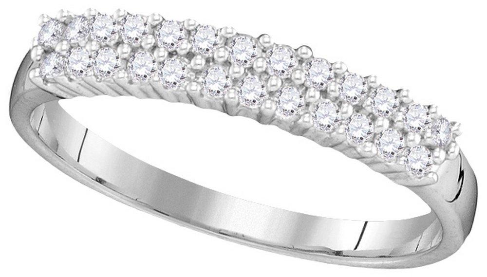 Genuine 0.33 CTW Diamond Ladies Ring 10KT White Gold -
