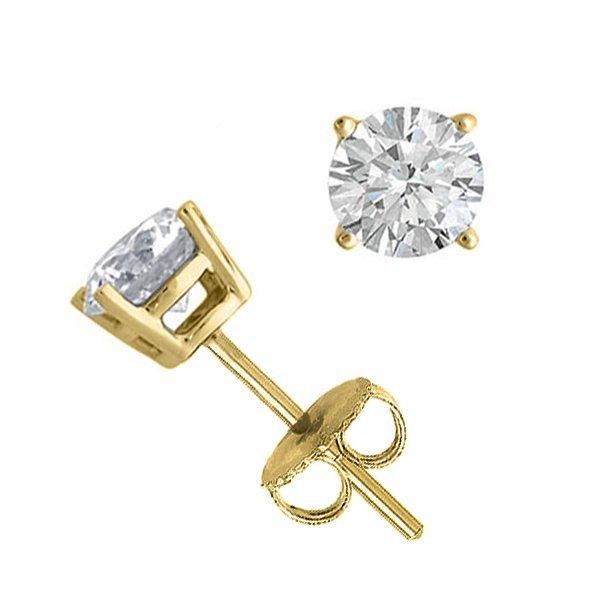 14K Yellow Gold Jewelry 1.0 ctw Natural Diamond Stud