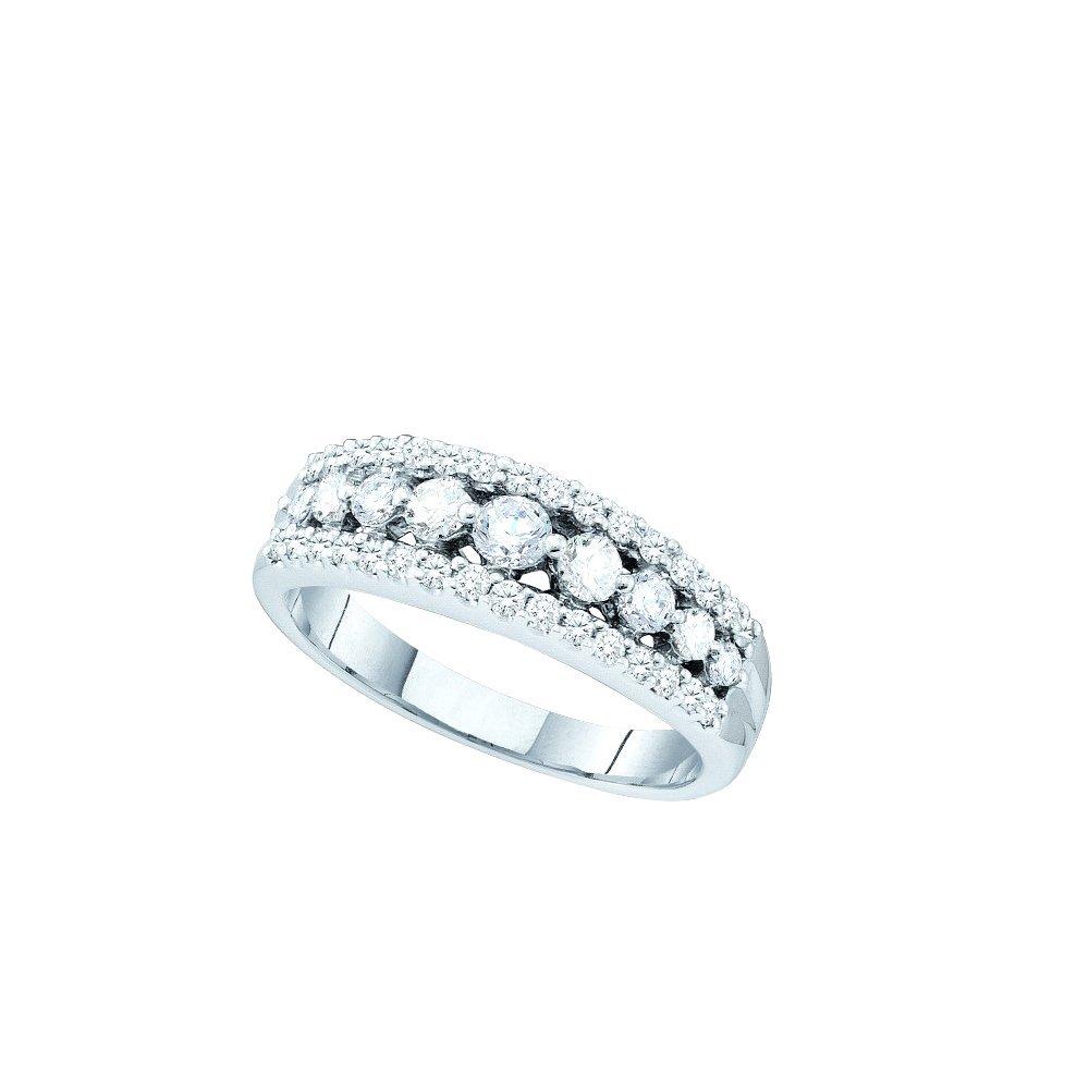 Genuine 0.75 CTW Diamond Ladies Ring 14KT White Gold -