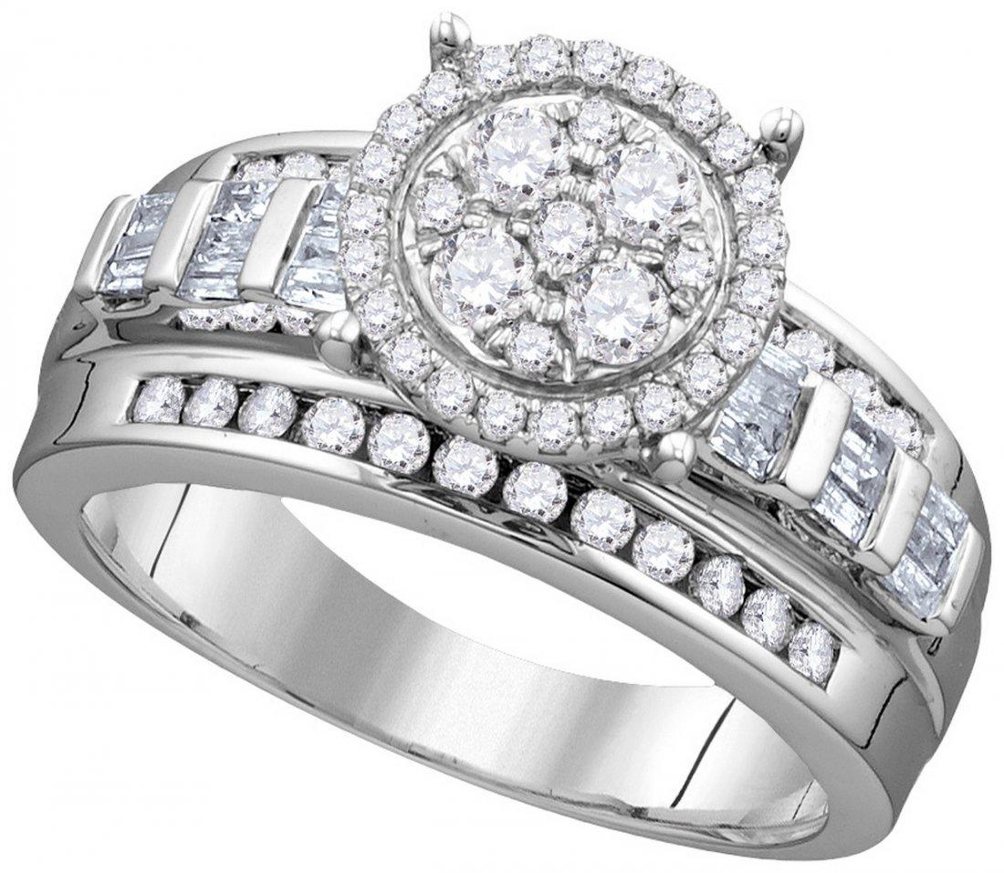 Genuine 0.50 CTW Diamond Ladies Ring 10KT White Gold -