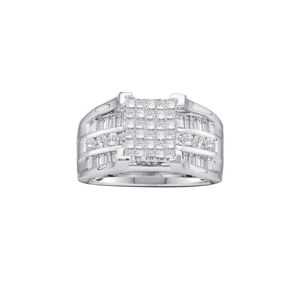 Genuine 1.51 CTW Diamond Ladies Ring 14KT White Gold -