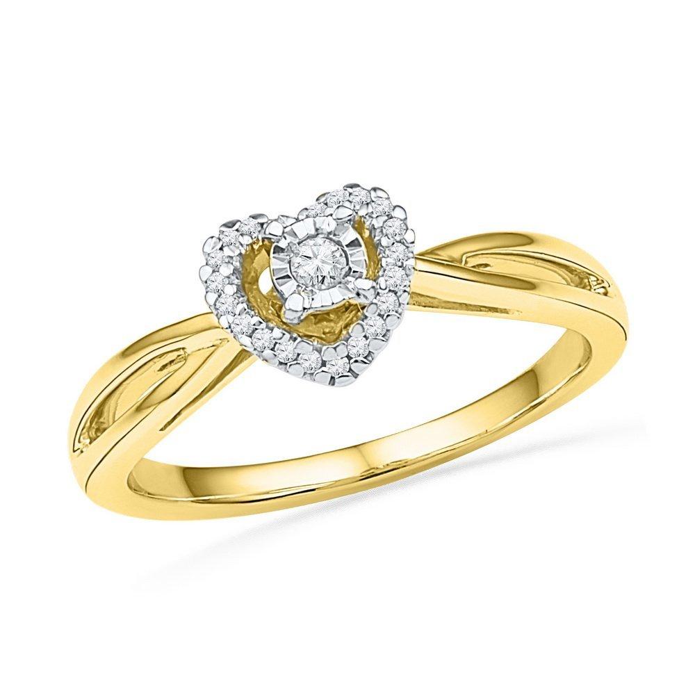 Genuine 0.30 CTW Diamond Ladies Ring 10KT Yellow Gold -