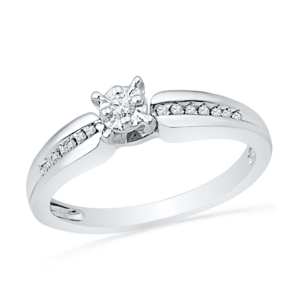 Genuine 0.30 CTW Diamond Ladies Ring 10KT White Gold -