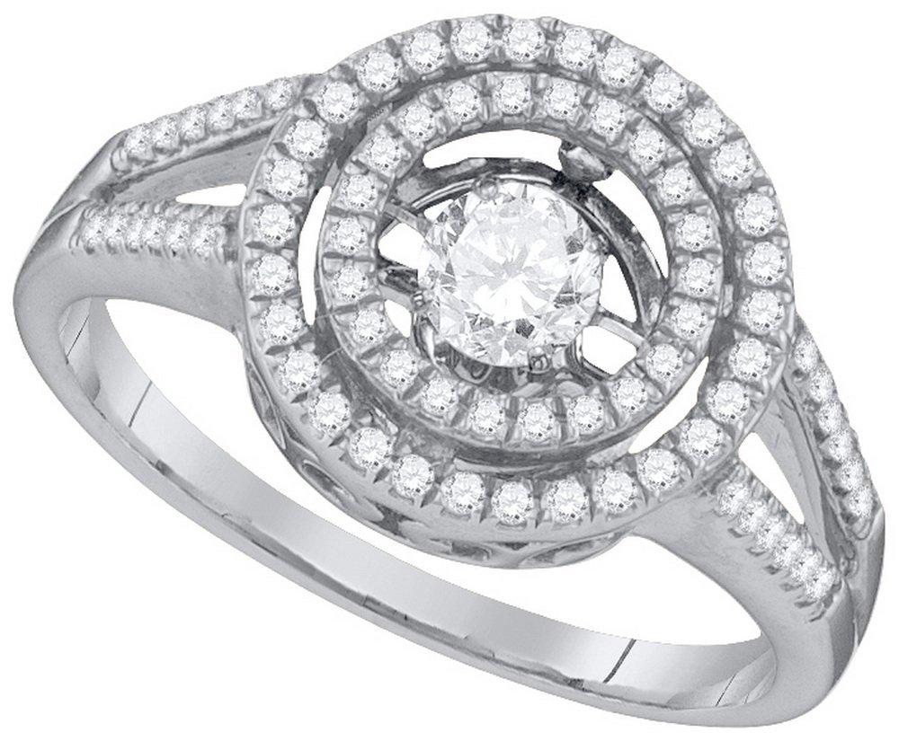 Genuine 0.62 CTW Diamond Ladies Ring 10KT White Gold -