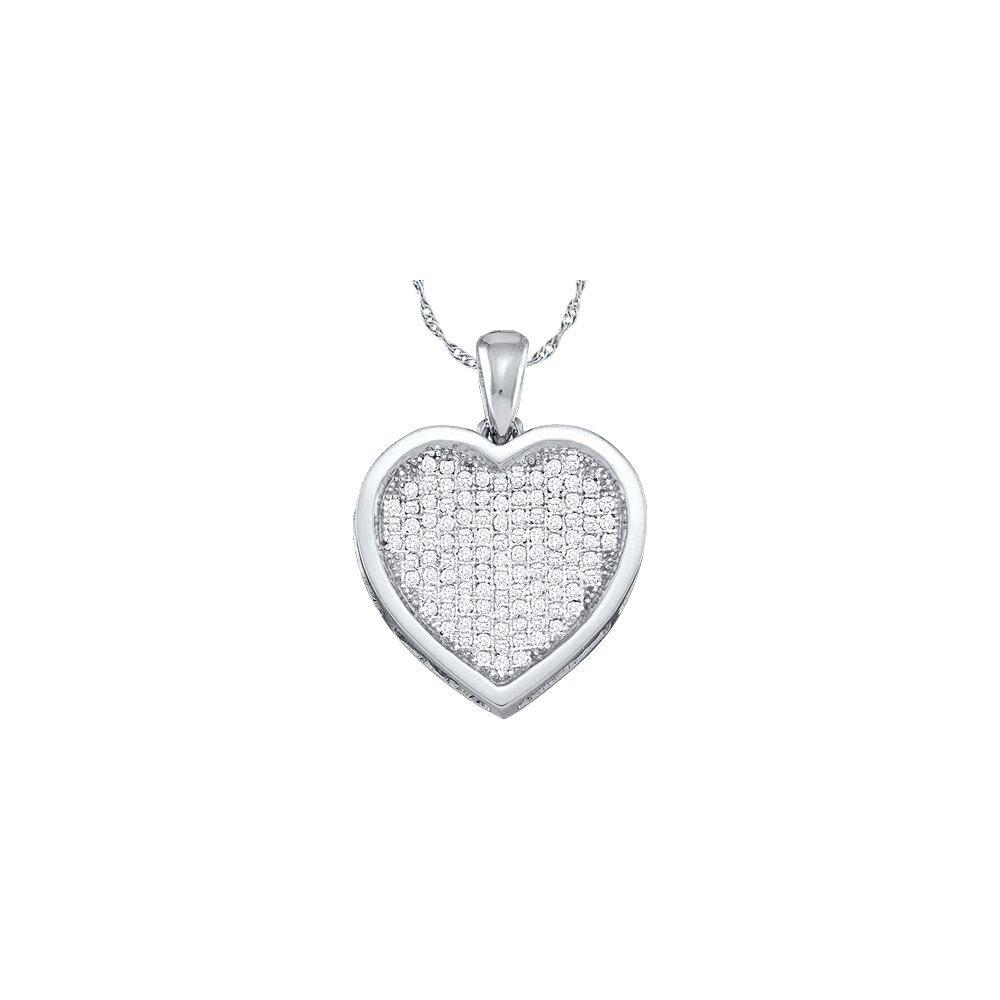 Genuine 0.05 CTW Diamond Pendant 10KT White Gold -
