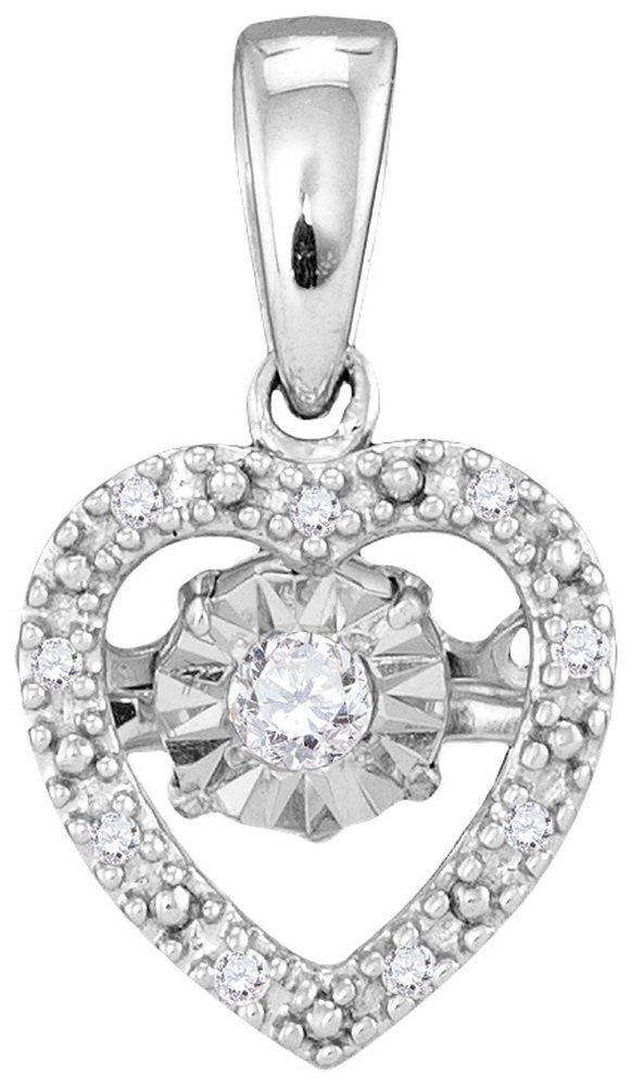 Genuine 0.08 CTW Diamond Pendant 10KT White Gold -