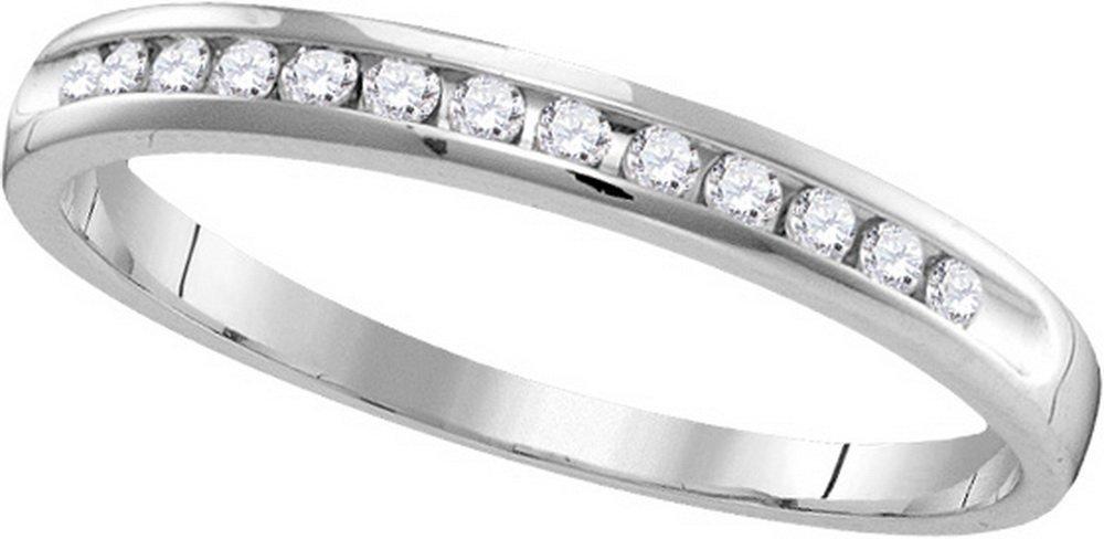 Genuine 0.25 CTW Diamond Ladies Ring 14KT White Gold -