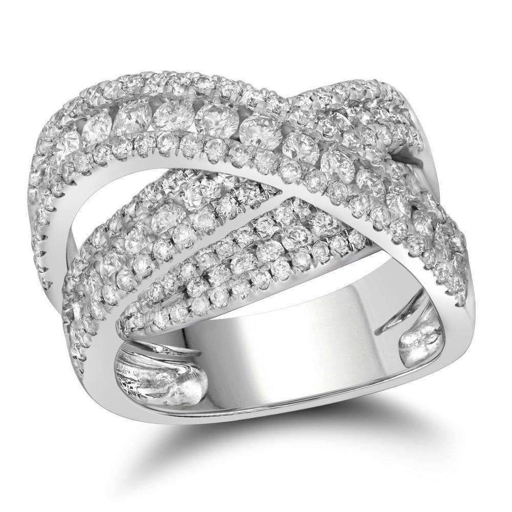 Genuine 2.0 CTW Diamond Ladies Ring 10KT White Gold -