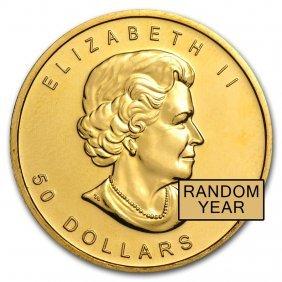 One Pc. Canada 1 Oz .9999 Fine Gold Maple Leaf Random
