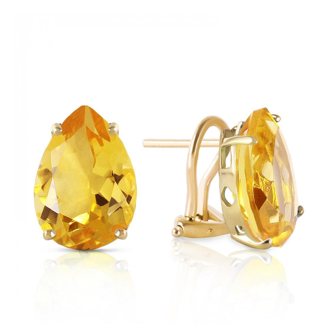 Genuine 10 ctw Citrine Earrings Jewelry 14KT Yellow