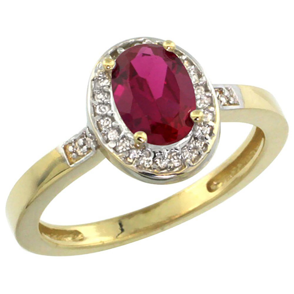 Natural 1.46 ctw Ruby & Diamond Engagement Ring 14K