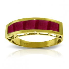 Genuine 2.5 Ctw Ruby Ring Jewelry 14kt Yellow Gold -