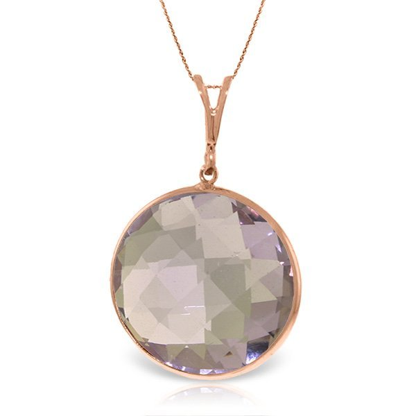 Genuine 18 ctw Amethyst Necklace Jewelry 14KT Rose Gold