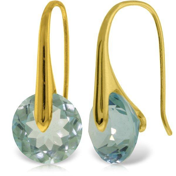 Genuine 16.5 ctw Blue Topaz Earrings Jewelry 14KT