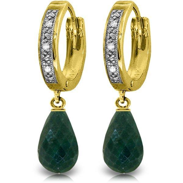 Genuine 6.64 ctw Green Sapphire Corundum & Diamond
