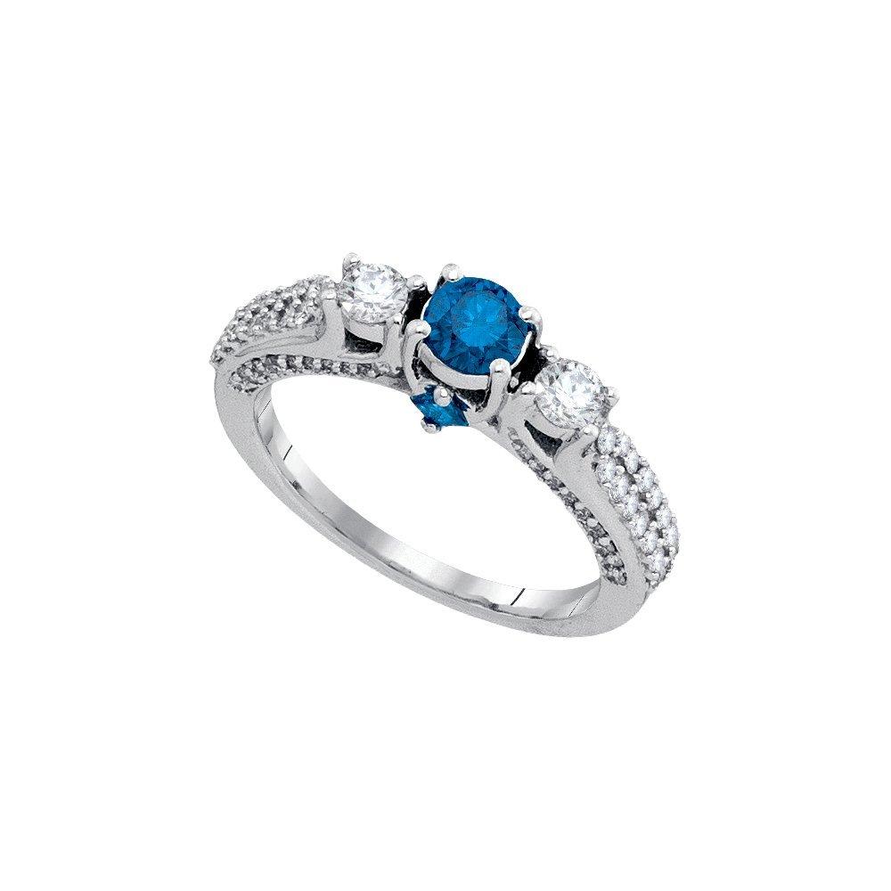 Natural 1.25 ctw Diamond Bridal Ring 14K White Gold -
