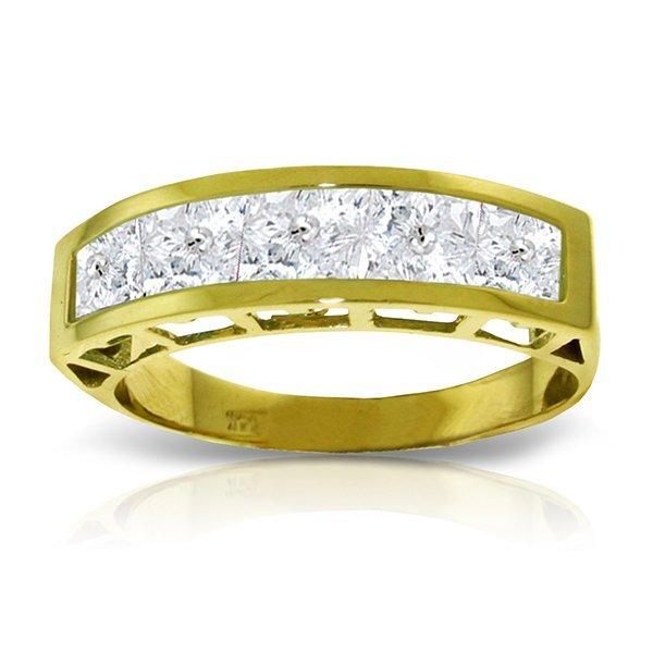 Genuine 2.25 ctw White Topaz Ring Jewelry 14KT Yellow