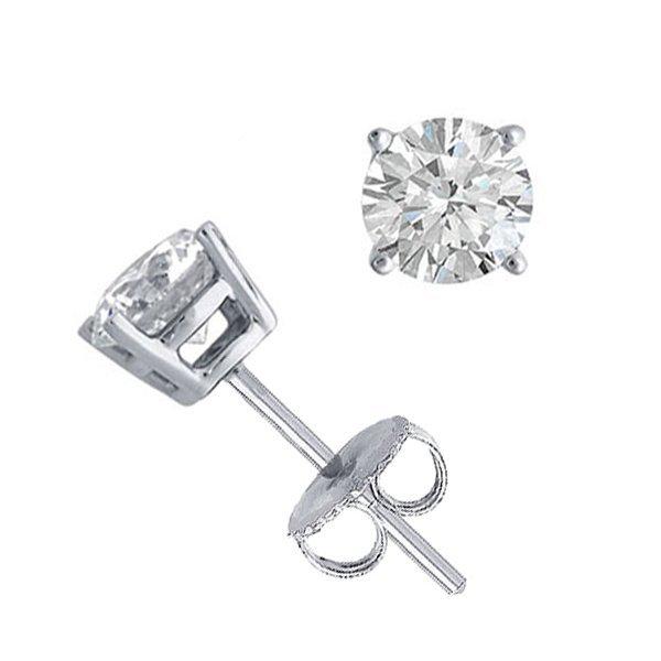 14K White Gold Jewelry 1.0 ctw Natural Diamond Stud