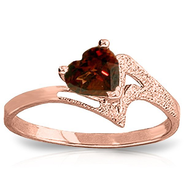 Genuine 0.90 ctw Garnet Ring Jewelry 14KT Rose Gold -