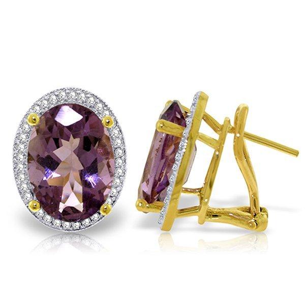 Genuine 10.56 ctw Amethyst & Diamond Earrings Jewelry