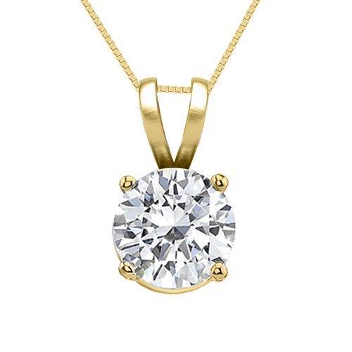 14K Yellow Gold Jewelry 1.0 ct Natural Diamond