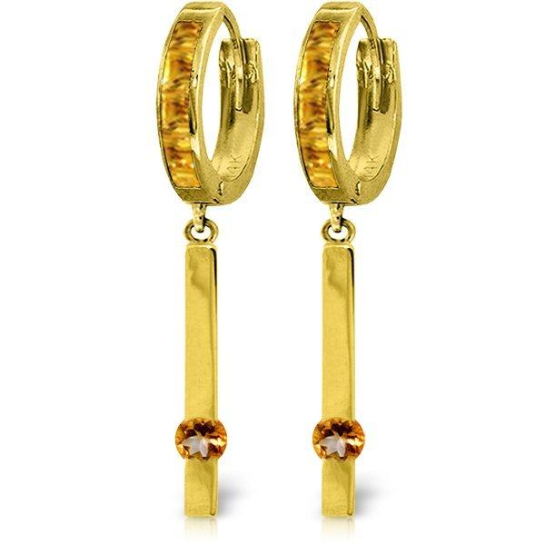 Genuine 1.35 ctw Citrine Earrings Jewelry 14KT Yellow