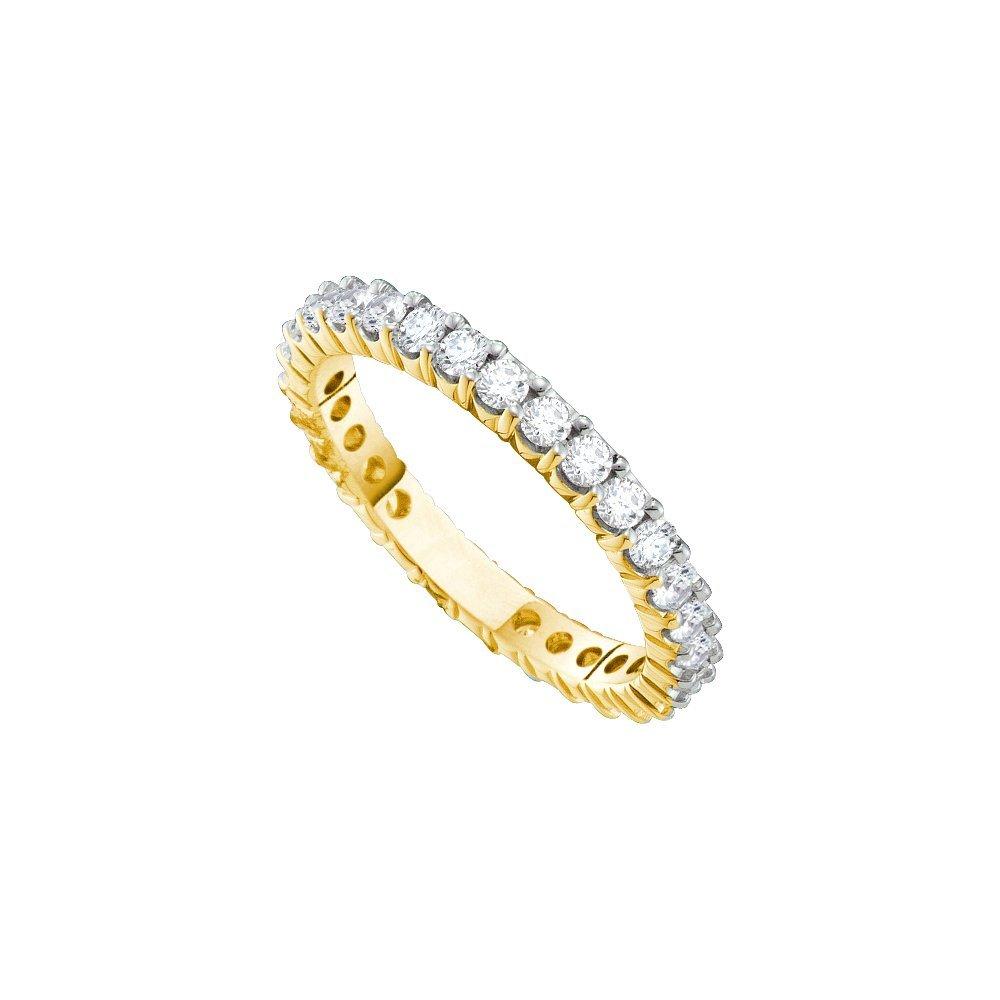 Genuine 2.0 CTW Diamond Eternity Ring 14KT Yellow Gold