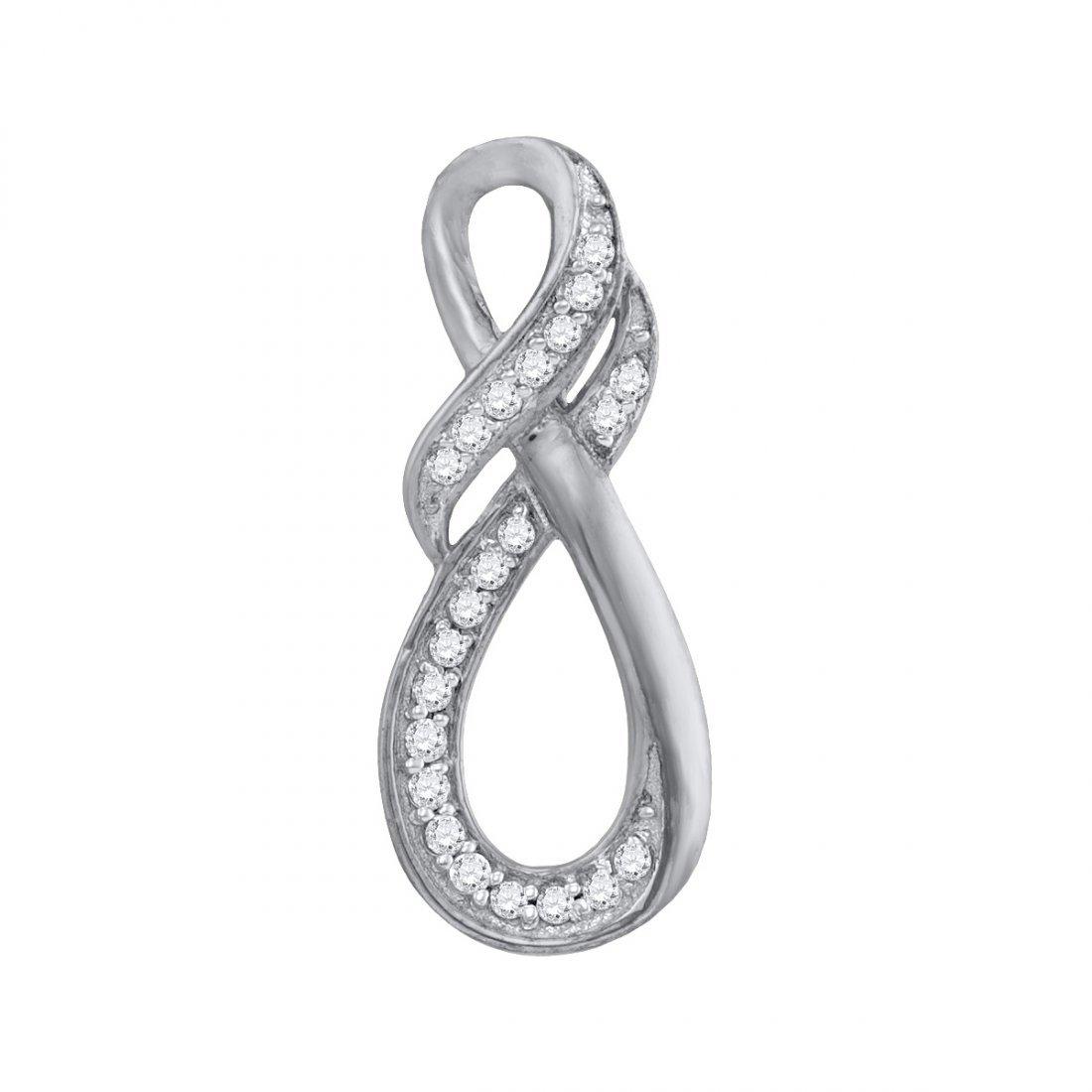 Genuine 0.10 CTW Diamond Pendant 10KT White Gold -