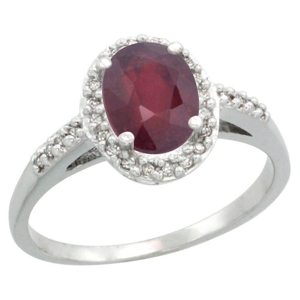 Natural 1.6 ctw Ruby & Diamond Engagement Ring 14K