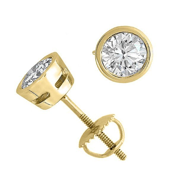 14K Yellow Gold Jewelry 2.0 ctw Natural Diamond Stud