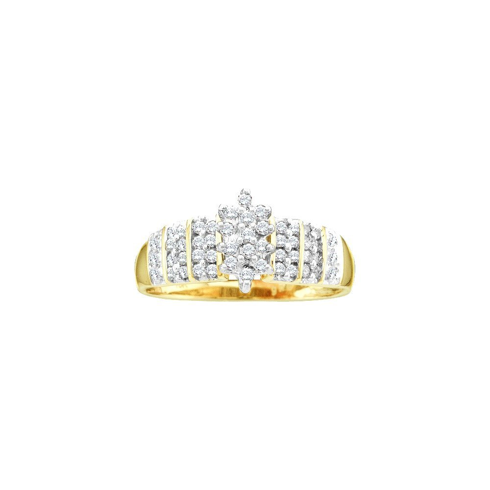Genuine 0.25 CTW Diamond Ladies Ring 10KT Yellow Gold -