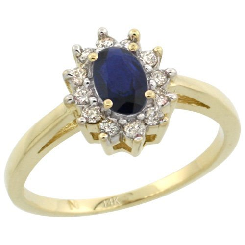 Natural 0.82 ctw Blue-sapphire & Diamond Engagement
