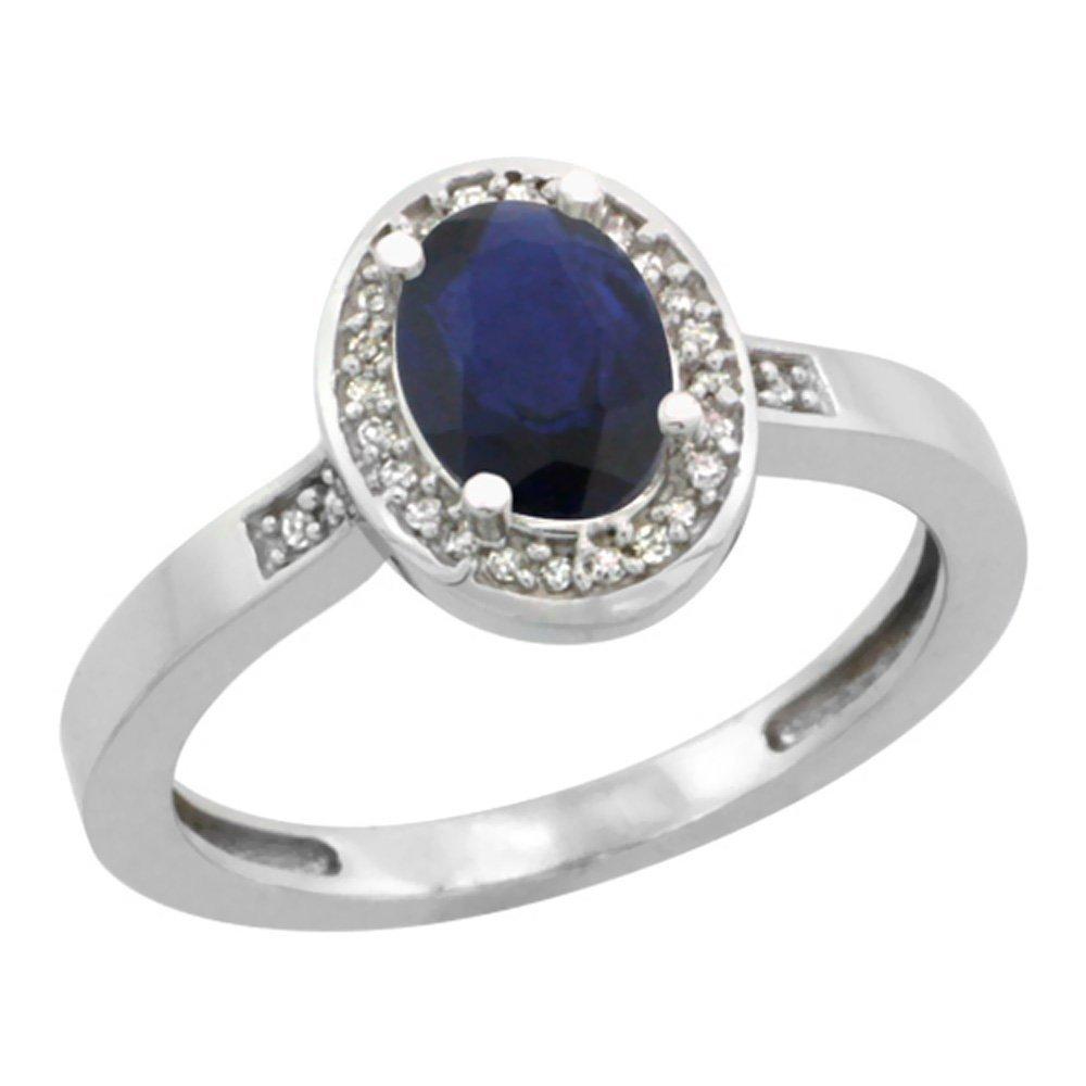 Natural 1.08 ctw Blue-sapphire & Diamond Engagement