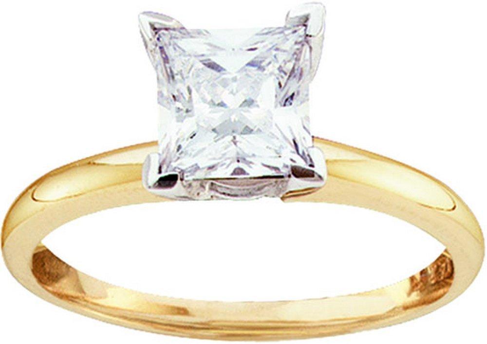 Genuine 0.50 CTW Diamond Solitaire Ring 14KT Yellow