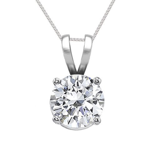 14K White Gold Jewelry 1.0 ct Natural Diamond Solitaire