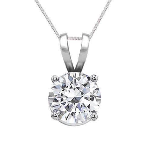 14K White Gold Jewelry 0.75 ct Natural Diamond