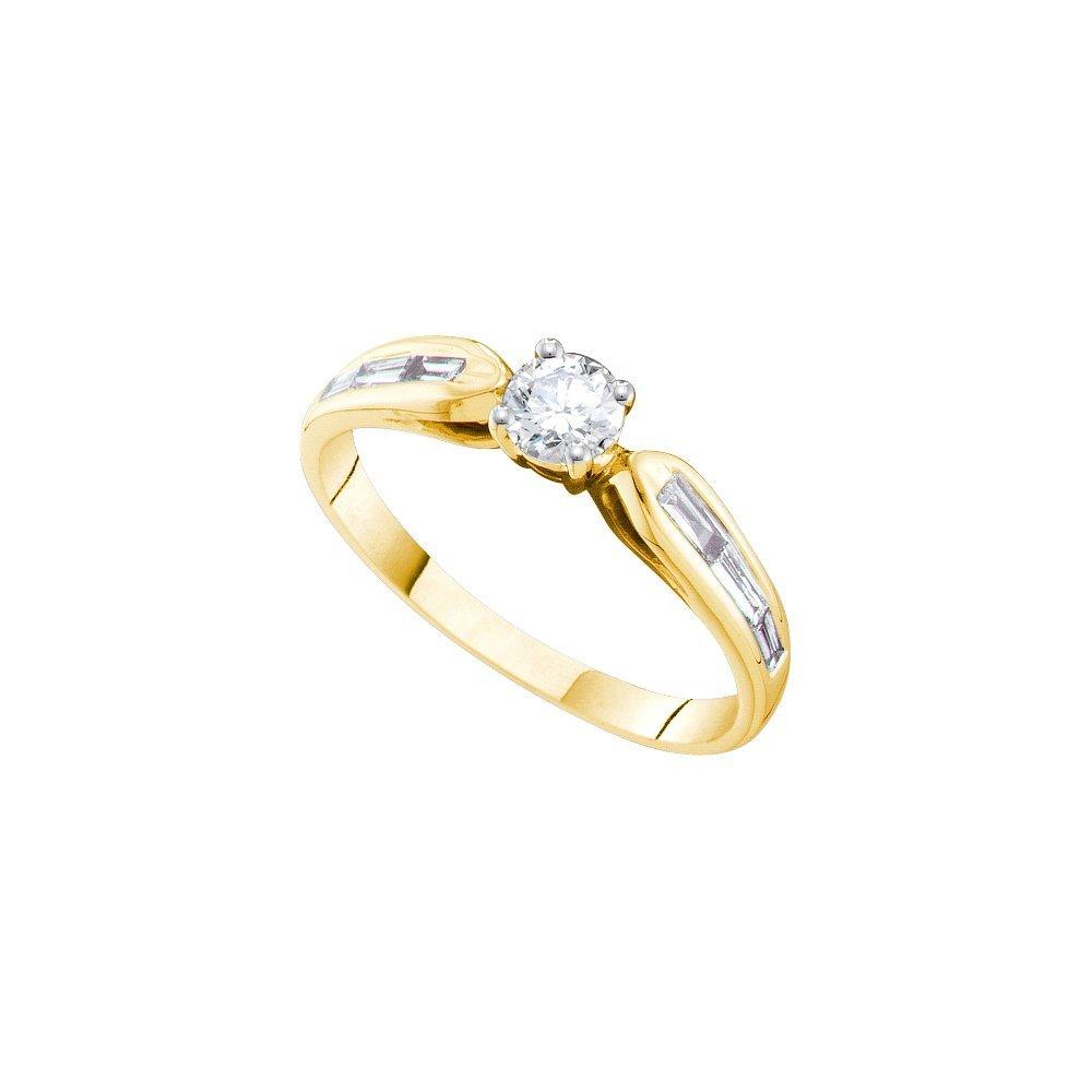 Natural 0.50 ctw Diamond Bridal Ring 14K Yellow Gold -