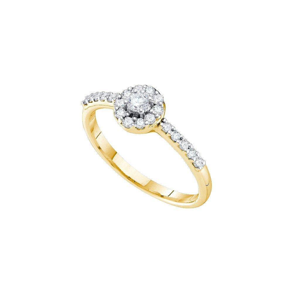 Natural 0.33 ctw Diamond Bridal Ring 14K Yellow Gold -