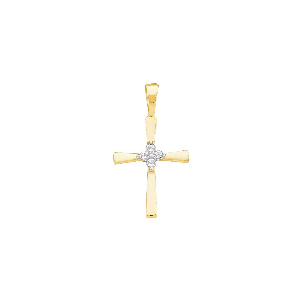 Genuine 0.05 CTW Diamond Pendant 10KT Yellow Gold -