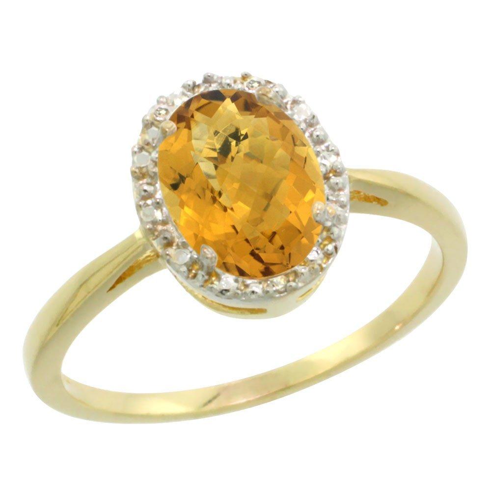 Natural 1.22 ctw Whisky-quartz & Diamond Engagement
