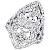 Natural 150 ctw Diamond Bridal Ring 14K White Gold