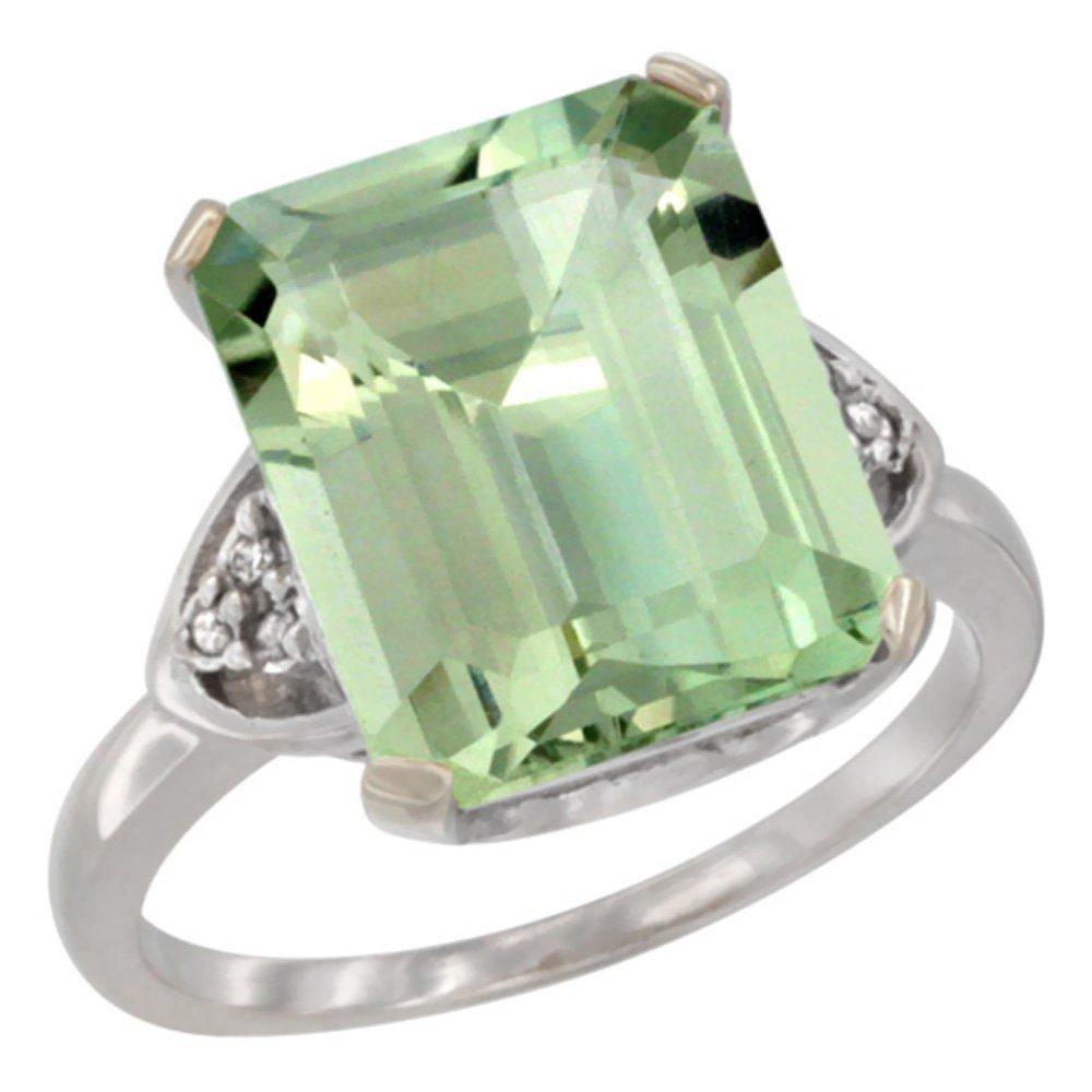Natural 5.44 ctw green-amethyst & Diamond Engagement