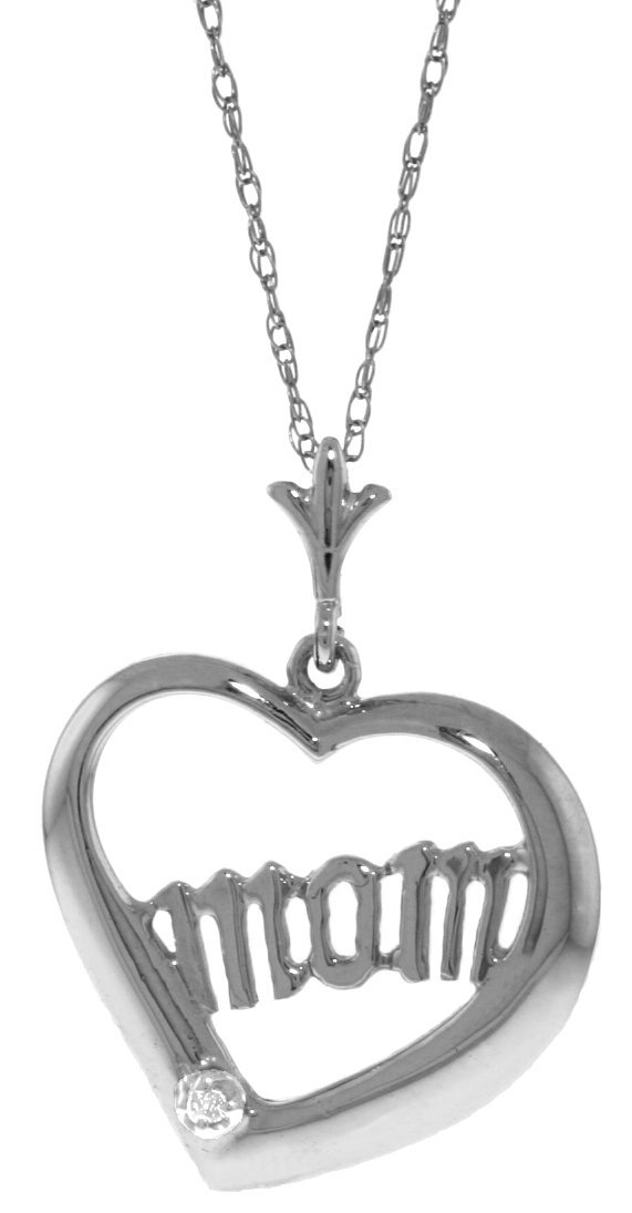 Genuine 0.01 ctw Diamond Anniversary Necklace Jewelry