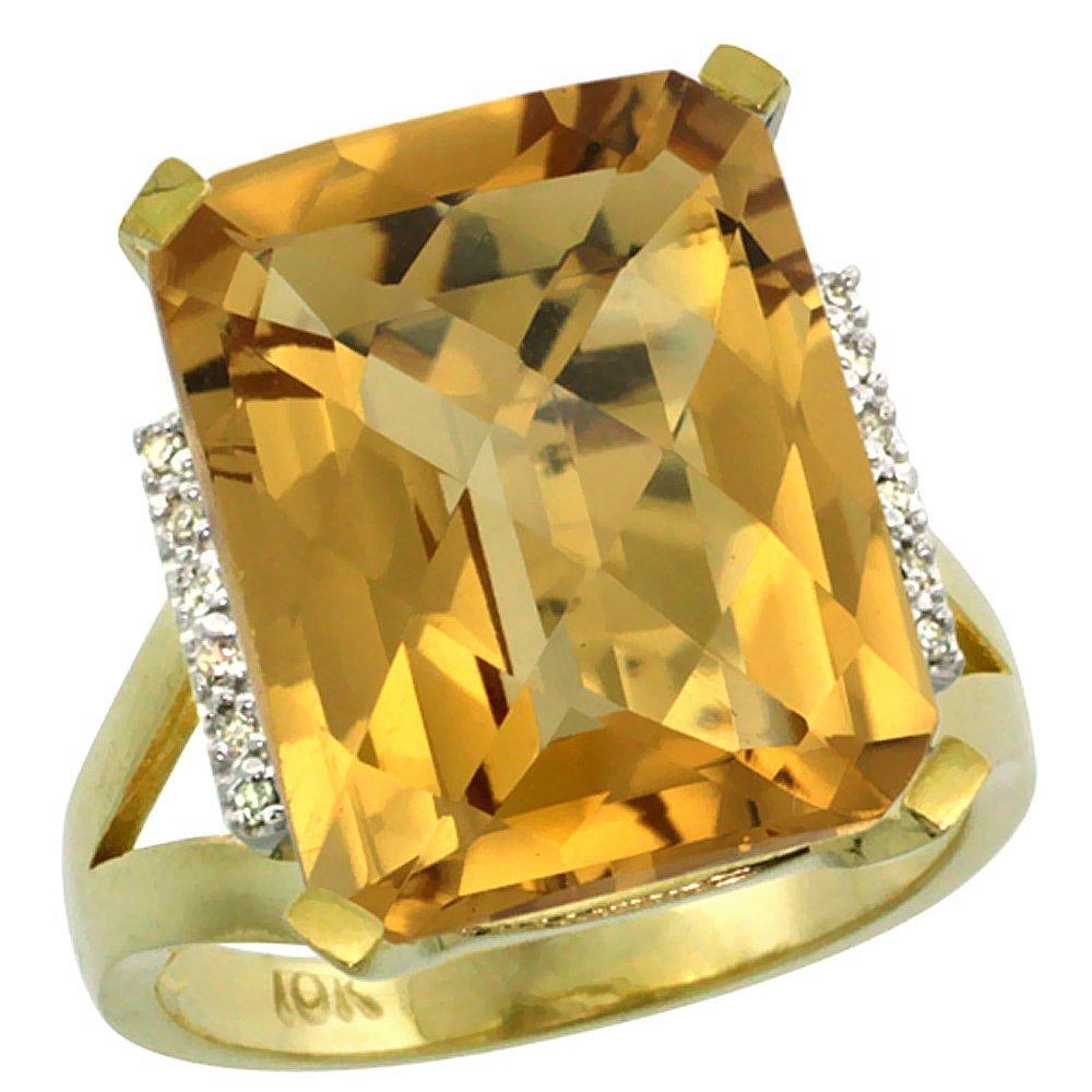 Natural 12.13 ctw Whisky-quartz & Diamond Engagement